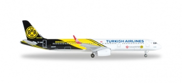 Herpa Wings 528825 Airbus A321 Turkish Airlines BVB 09 Borussia Dortmund 1:500